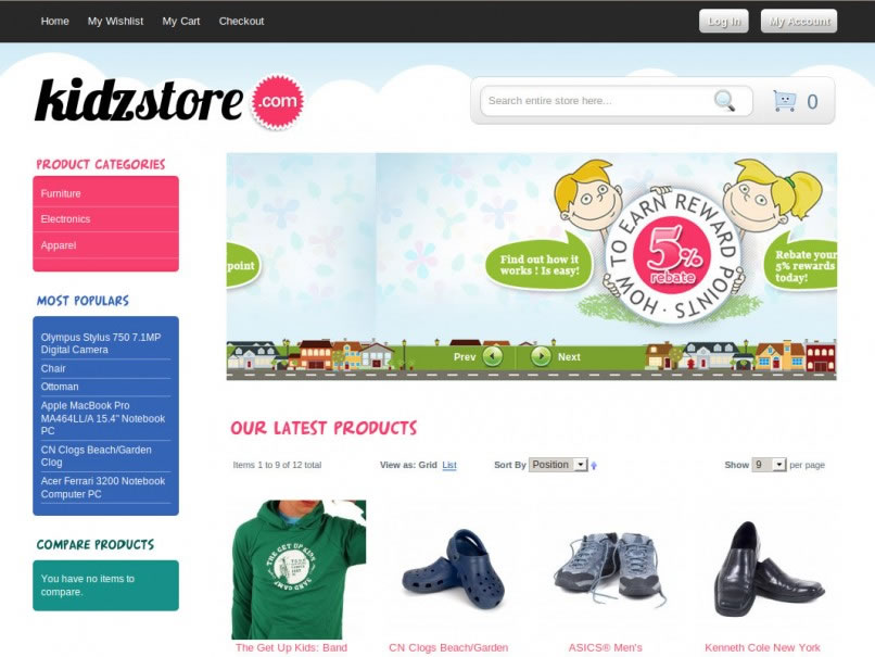 magento homepage template - magento ecommerce template malaysia magento ecommerce
