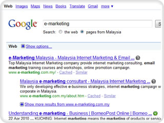 Malaysia Google SEO Ranking